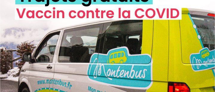MONTENBUS : trajets gratuits pour se faire vacciner
