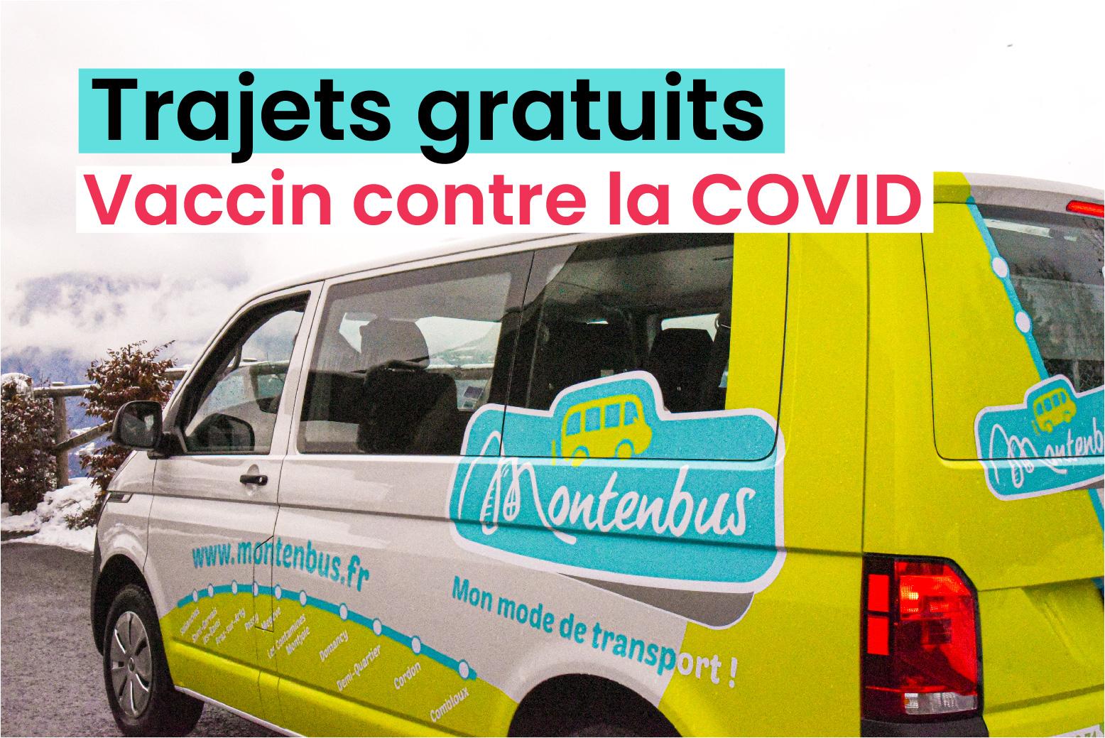 Trajets gratuits vaccin Montenbus